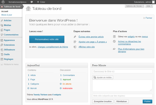 administration-wordpress